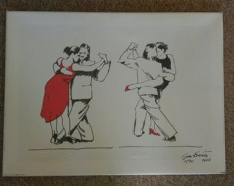 Limited edition Tango Print of original painting made by local artist Grant Smith