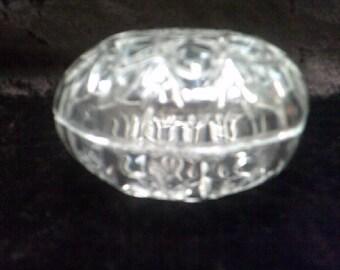 Trinket / Jewellery Box Crystal Glass