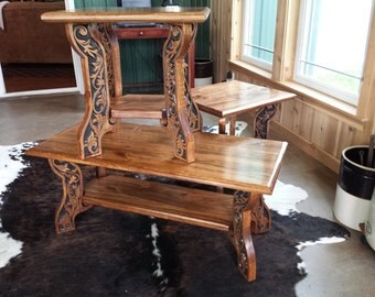 Western Style Coffee and End Tables