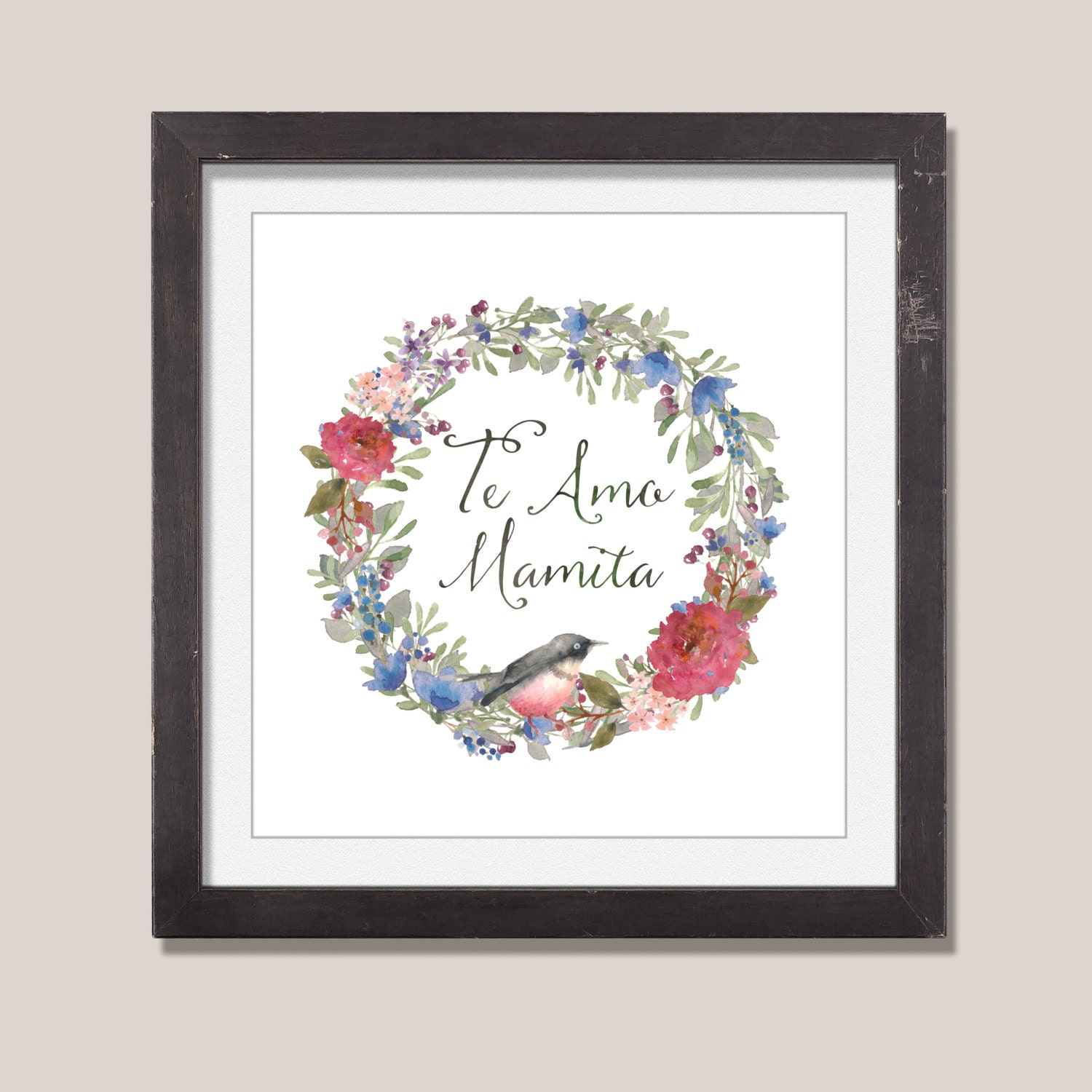 te amo mama custom quote art spanish quote i love you mom
