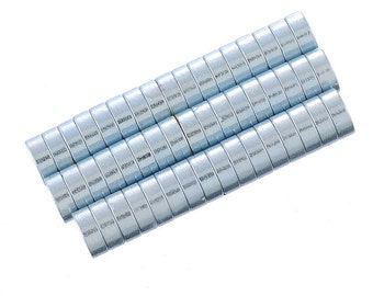 """50 Silver Tone Disc Magnets 4mm(1/8"""")"""