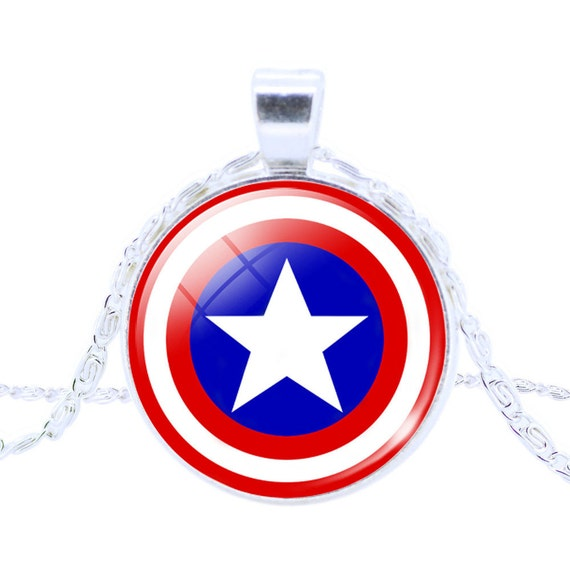 items similar to captain america pendant necklace on etsy