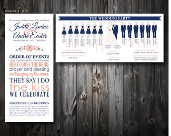 Silhouette Wedding Programs (100)