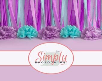 Vinyl Backdrop, Birthday Light Pink Seamless ALL IN ONE vinyl Photography Backdrop