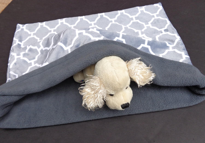 pet sleeping bag snuggle burrow sack reversible gray fleece