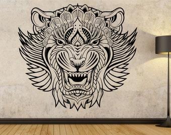 Tiger Modern Tribal Vinyl Wall Decal Sticker Art Decor Bedroom Design Mural
