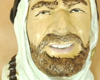 """Plaster head of Arab man 6 1/2"""" x 4 1/2"""""""