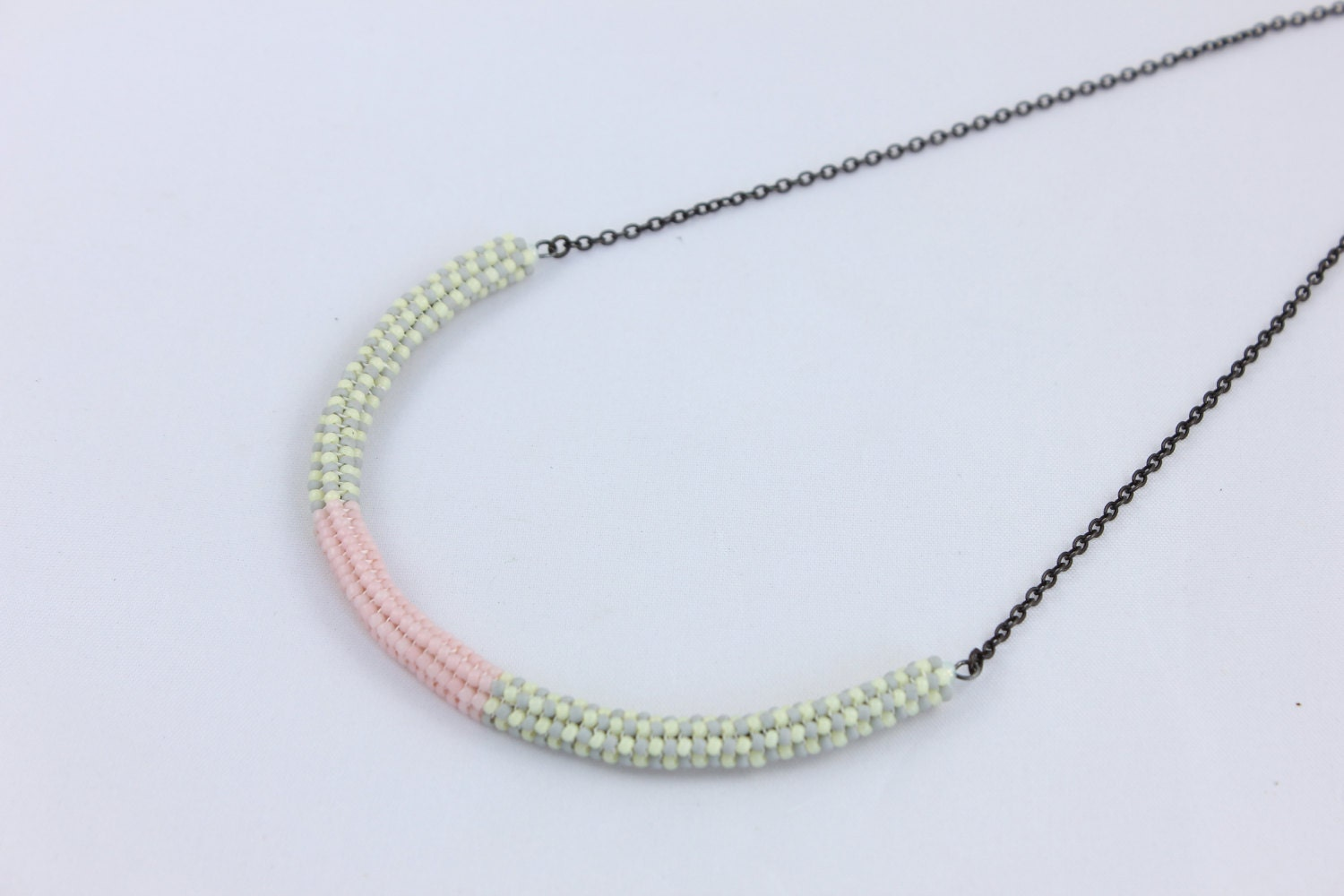 beaded rope necklace seed bead necklace by detaillondon on