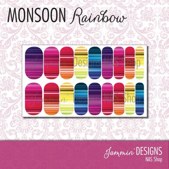 Monsoon Rainbow NAS (Nail Art Studio) Design