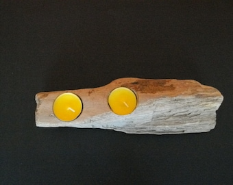 candle holder wooden floats