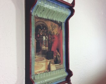 Rolled Tin Picture Frame