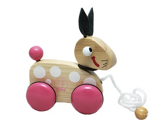 Wooden Pull Along Toy - Rabbit