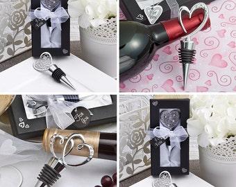 Wedding favors - 15 Wine bottle stoppers wedding shower favors, bridal shower favors, unique wedding favors, wedding favor ideas