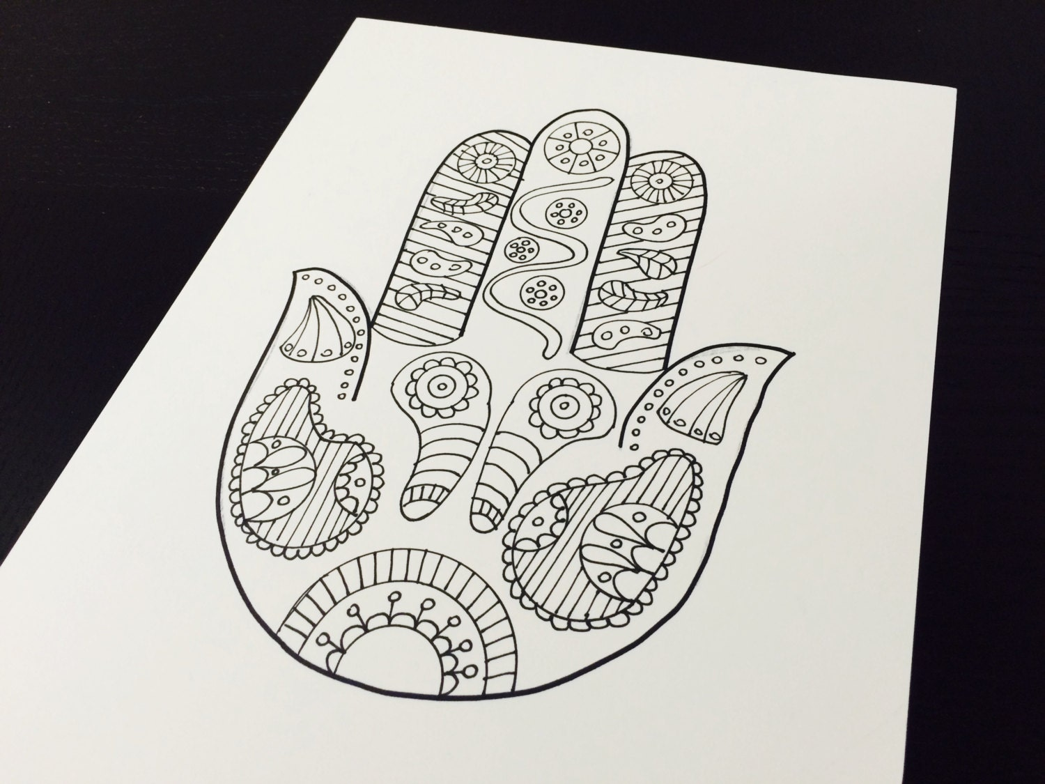hamsa coloring pages - photo#36
