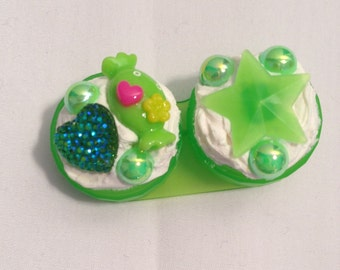 Green Kawaii Contact Lens Holder