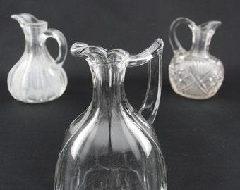 Art Deco Glass Bottle, Vintage Decorative Glass Bottle