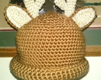 Hat for Baby/Buck Hat/Doe Hat/Crocheted Hat