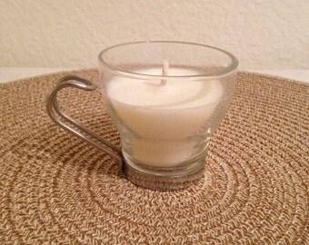 Small vintage espresso candle