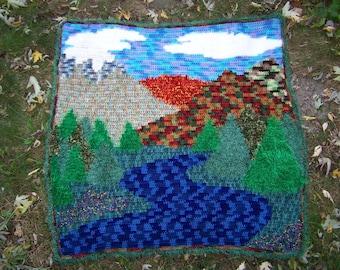 Mountain Dreams Crochet Pattern, Mountains Blanket Pattern, Scenic Blanket, Scenery Afghan