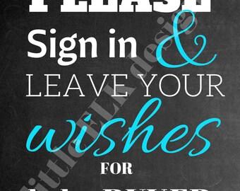 Babyshower/printable pdf/ customized/ sign/ chalkboard