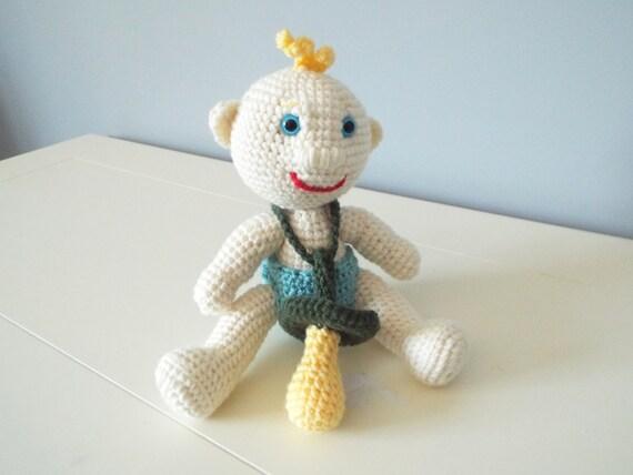 Crochet Pattern For Doll Diaper : Crochet baby doll stuffed toys amigurumi pacifier home decor