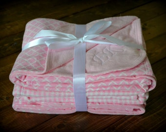 Pretty in Pink Double-Sided Swaddling Blankets (3 pack)