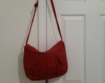 Vintage 1980's Red Leather Handbag