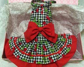 Sweet Cherry Dog Dress