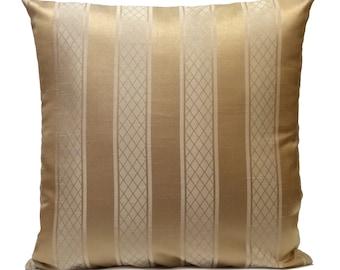 Tan, Gold, Bronze Pillow, Throw Pillow Cover, Decorative Pillow Cover, Cushion Cover, Pillowcase, Accent Pillow, Toss Pillow, Silk Blend
