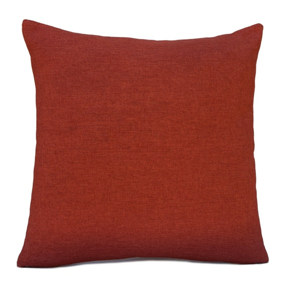 Dark Rust Orange Pillow Throw Pillow Cover Decorative