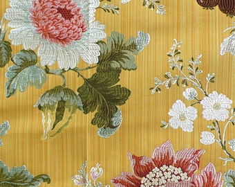 SCALAMANDRE PERRAULT SILK Lampas Colony Collection Fabric 10 Yards Multi Ancien