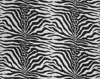 SCALAMANDRE SAVANNAH ZEBRA Linen Fabric 10 Yards Black