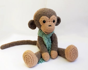 PATTERN : Monkey - Amigurumi Monkey-pattern - Crochet pattern-Knitted Stuffed animals- doll-toy-baby shower