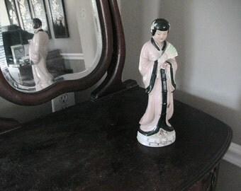 Japanese Geisha Girl Kemono Figurine Retro Mid Century Ceramic China Vintage Asian
