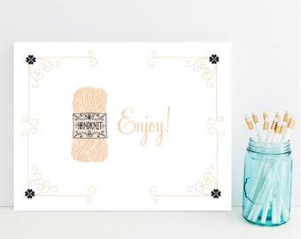 Handmade, Hand Knit Card - Card for Knitter