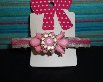 Pretty in Pink! Hair barrette.