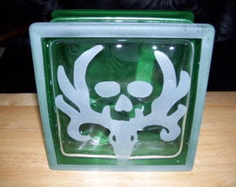 bone collector glass block