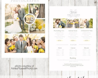 INSTANT DOWNLOAD - Photography Price List Template for Photography Marketing or Wedding Price List Template