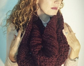 20% Off sale- Knit shrug, womens shrug, knit cowl, womens cowl, The Malbec shrug, American made hand knit shrug and infinity scarf