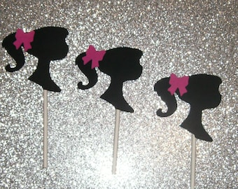 12 Barbie Cupcake Toppers (242C)