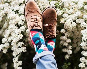 Abstract Curves | women socks | colorful socks | office socks |mens socks | gift socks | patterned socks | charity |worldwide| Many Mornings