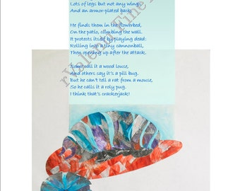 """Poetry Art """"Orig Poem Kids"""" Fine Art Digital Print 8"""" x 10"""" x 0.033"""