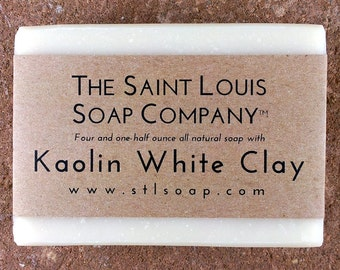 Kaolin White Clay – Vegan Soap, Fragrance Free Soap, All Natural Soap, Hand Made Soap, Clay Soap, Kaolin Soap, Kaolin Clay Soap