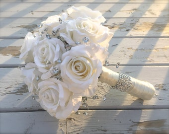 bling bouquet/bridal bouquet/artificial bouquet/bridal bouquet/bling bridal bouquet