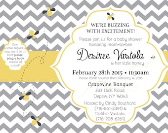 Bumble Bee Baby Shower Invite