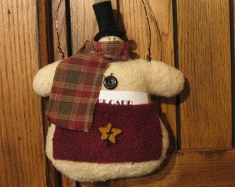 Snowman Decoration - Snowman Hanging - Ornament - Holiday Decoration