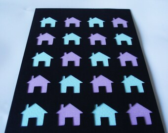 A6 Hand-Cut Houses Greetings Card