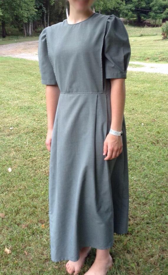 modest mennonite cape dress