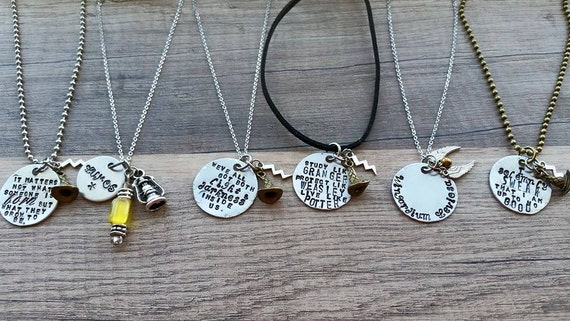harry potter inspired necklace line