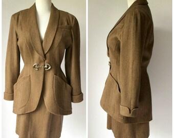 Thierry Mugler Avant Garde Mini Skirt Suit